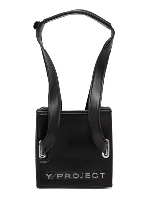 Y/PROJECT leather and pvc mini accordion bag