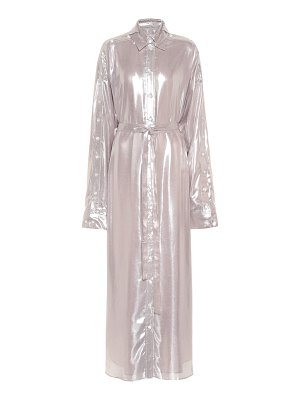 Y/PROJECT metallic maxi shirt dress