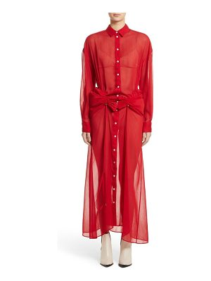 Y/PROJECT sheer drawstring shirtdress