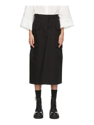 Ys black pocket skirt