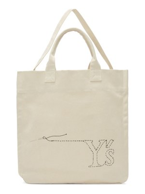 Ys off-white sewing needle tote
