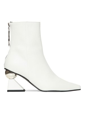 YUUL YIE 70mm amoeba leather ankle boots
