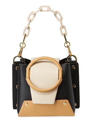 Yuzefi Delila Mini Colorblock Leather Ring Bucket Bag