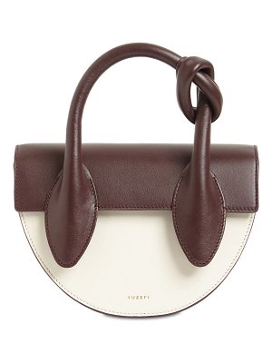 Yuzefi Dolores bcolor leather top handle bag