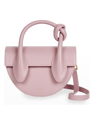 Yuzefi Dolores Leather Knot Top-Handle Bag