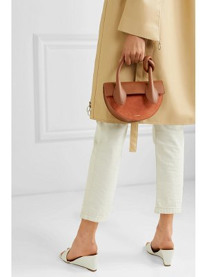 Yuzefi dolores suede and textured-leather shoulder bag