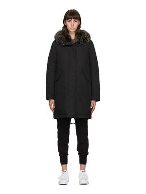 Yves Salomon - Army black down bachette coat
