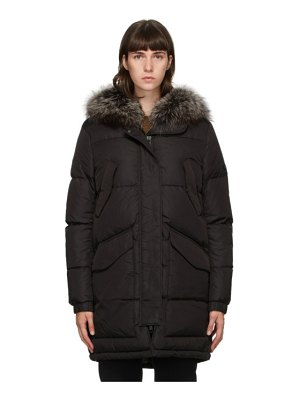 Yves Salomon - Army black down doudoune coat