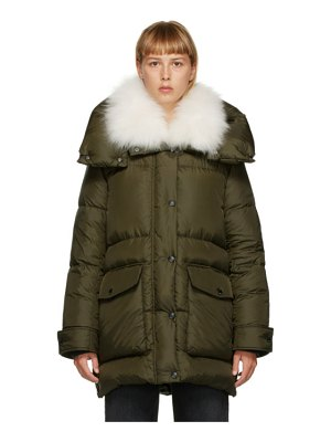 Yves Salomon - Army green down puffer coat