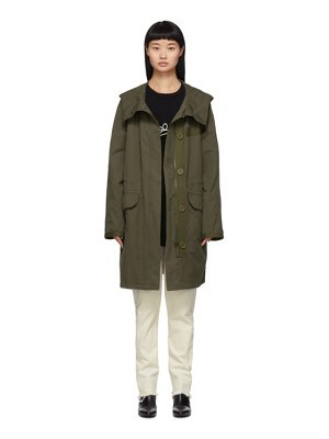Yves Salomon - Army khaki cotton and linen parka