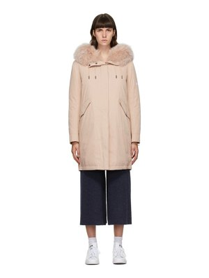 Yves Salomon - Army pink down bachette coat