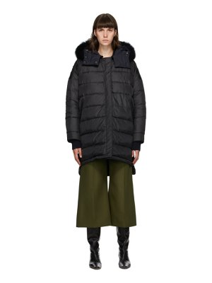 Yves Salomon - Army reversible black down doudoune coat