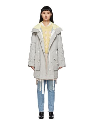 Yves Salomon - Army reversible grey padded parka