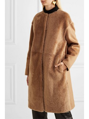 Yves Salomon wool and cashmere-blend and shearling coat