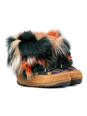 Yves Salomon x moon boot® fur ankle boots