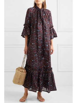 YVONNE S angelica ruffled tiered printed cotton-voile maxi dress