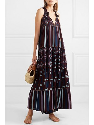 YVONNE S hippy tiered printed cotton maxi dress