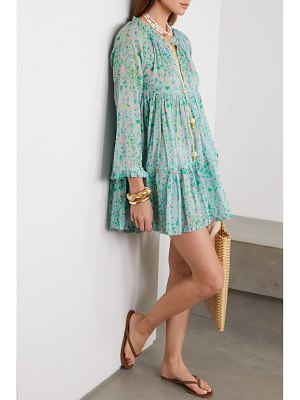 YVONNE S hippy tiered printed cotton-voile mini dress