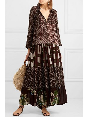 YVONNE S hippy tiered printed crepe de chine maxi dress