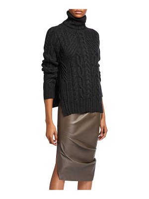 Zac Posen Cable-Knit Turtleneck Sweater