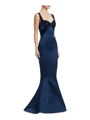 Zac Posen double face duchess mermaid gown