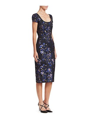 Zac Posen floral jacquard cocktail dress