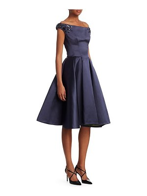 Zac Posen off-the-shoulder a-line cocktail dress