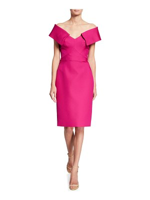 Zac Posen Portrait Collar Sheath Dress