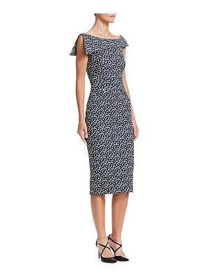 Zac Posen printed stretch cocktail dress