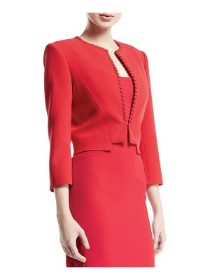 Zac Posen Ribbon-Trim Crop Jacket