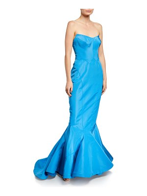 Zac Posen Strapless Silk Faille Mermaid Gown