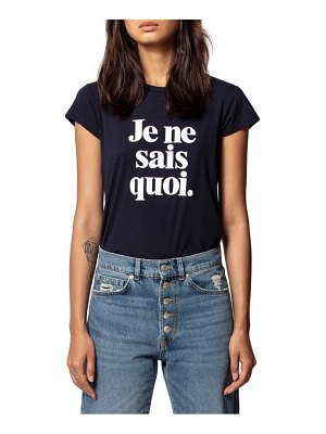 Zadig & Voltaire jnsq skinny cotton blend tee