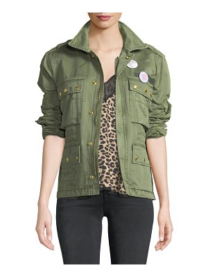 Zadig & Voltaire Krisy Grunge Utility Jacket with Pins