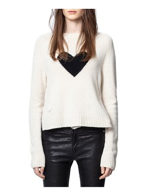 Zadig & Voltaire lili c sweater heart cashmere sweater