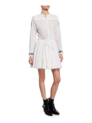 Zadig & Voltaire Ranil Embroidered Cotton Shirtdress