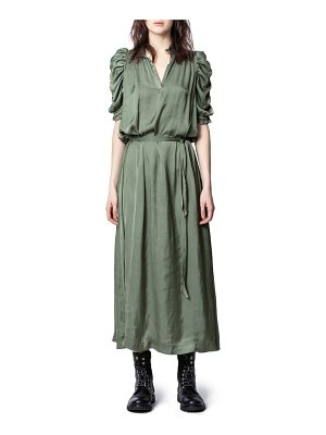 Zadig & Voltaire ray puff sleeve satin dress