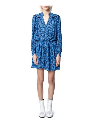 Zadig & Voltaire Reveal Heart-Print Long-Sleeve Dress