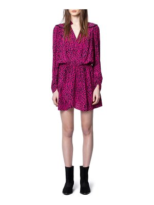 Zadig & Voltaire reveal leopard print long sleeve dress