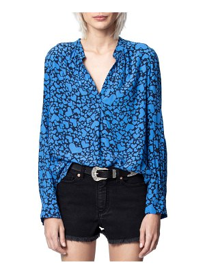 Zadig & Voltaire tink heart print long sleeve blouse