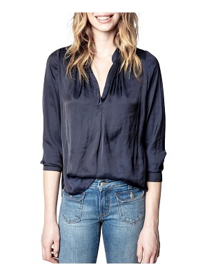 Zadig & Voltaire Tink Long-Sleeve Satin Tunic