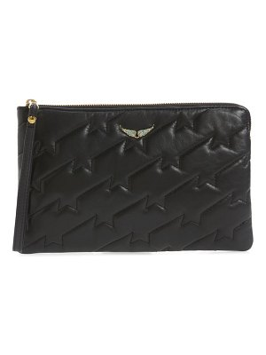 Zadig & Voltaire uma quilted leather clutch