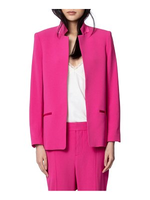 Zadig & Voltaire volly inverted notch collar jacket