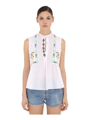 ZADIG&VOLTAIRE Embroidered voile cotton shirt