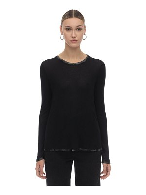 ZADIG&VOLTAIRE Long sleeve modal jersey top