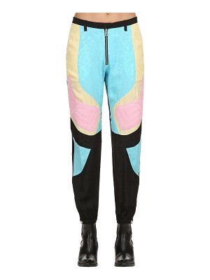ZADIG&VOLTAIRE Printed color block silk pants