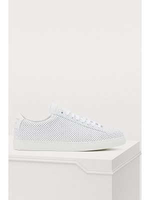 Zespa Perforated nappa leather sneakers