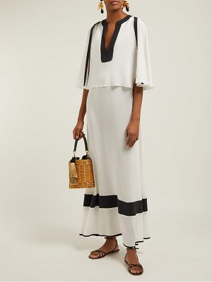 ZEUS + DIONE callas panelled silk maxi dress