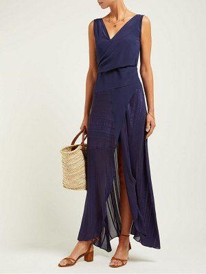 ZEUS + DIONE erato silk wrap maxi dress