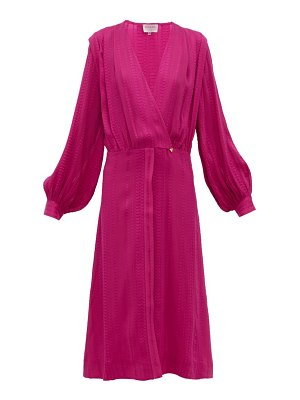 ZEUS + DIONE rania silk blend crepe wrap dress