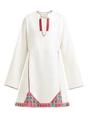 ZEUS + DIONE skopelos embroidered silk mini dress